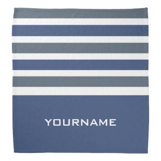 Stripes Pattern custom monogram bandana