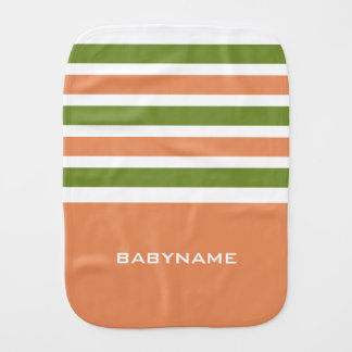 Stripes Pattern custom monogram burp cloth