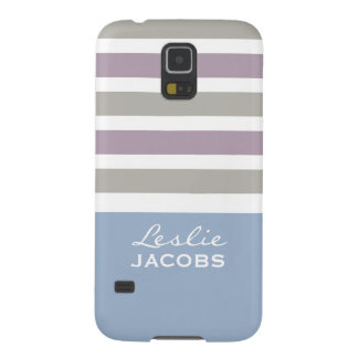 Stripes Pattern custom monogram cases