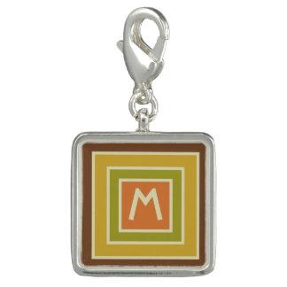 Stripes Pattern custom monogram charm / bracelet
