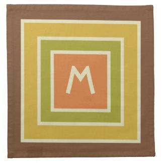 Stripes Pattern custom monogram cloth napkins
