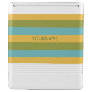 Stripes Pattern custom monogram cooler Igloo Cooler