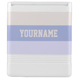 Stripes Pattern custom monogram coolers Igloo Cool Box