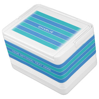 Stripes Pattern custom monogram coolers Igloo Cool Box