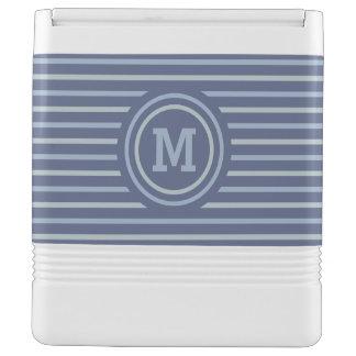 Stripes Pattern custom monogram coolers Igloo Cooler