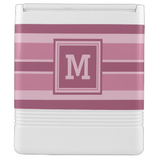 Stripes Pattern custom monogram coolers Igloo Cooler