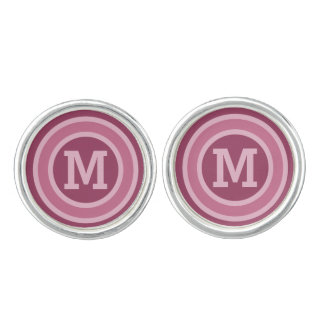 Stripes Pattern custom monogram cufflinks
