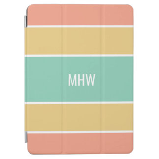 Stripes Pattern custom monogram device covers iPad Air Cover