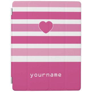 Stripes Pattern custom monogram device covers iPad Cover