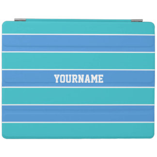 Stripes Pattern custom monogram device covers iPad Cover