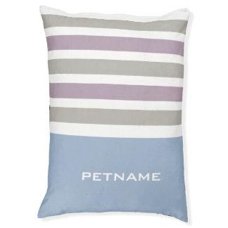 Stripes Pattern custom monogram dog beds