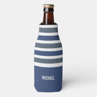 Stripes Pattern custom monogram drink coolers