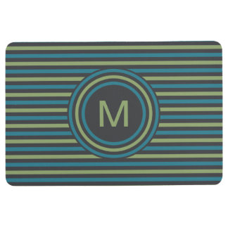 Stripes Pattern Custom Monogram floor mat