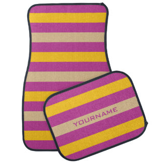 Stripes Pattern custom monogram floor mats