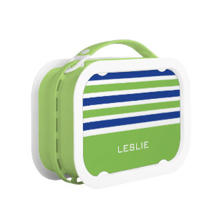 Stripes Pattern custom monogram lunch boxes