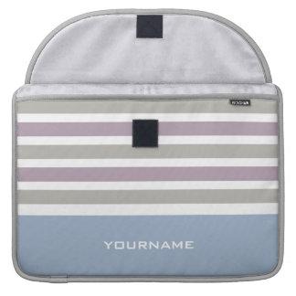 Stripes Pattern custom monogram MacBook sleeves