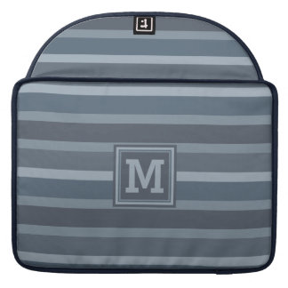 Stripes Pattern custom monogram MacBook sleeves MacBook Pro Sleeve