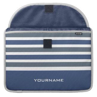 Stripes Pattern custom monogram MacBook sleeves MacBook Pro Sleeves