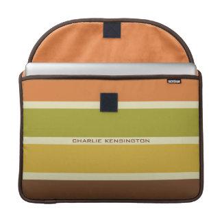 Stripes Pattern custom monogram MacBook sleeves Sleeve For MacBook Pro