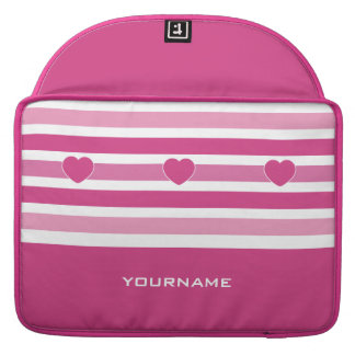 Stripes Pattern custom monogram MacBook sleeves Sleeve For MacBooks