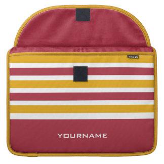 Stripes Pattern custom monogram MacBook sleeves Sleeves For MacBook Pro