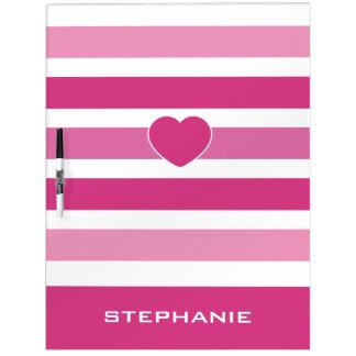 Stripes Pattern custom monogram message boards
