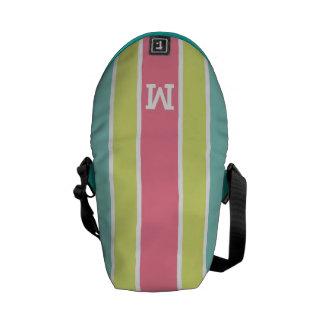 Stripes Pattern custom monogram messenger bags