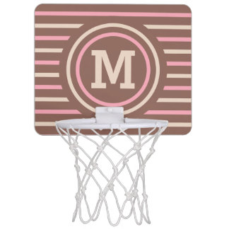 Stripes Pattern custom monogram mini hoop