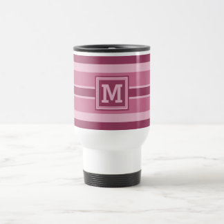 Stripes Pattern custom monogram mugs