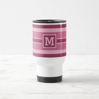 Stripes Pattern custom monogram mugs
