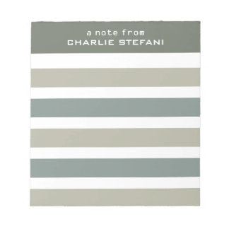 Stripes Pattern custom monogram notepads