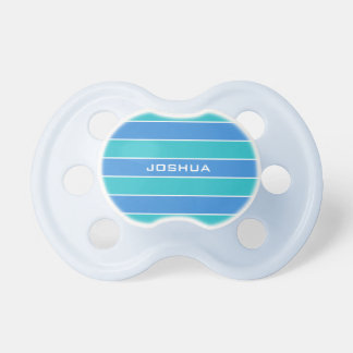 Stripes Pattern custom monogram pacifier