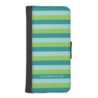 Stripes Pattern custom monogram phone wallets