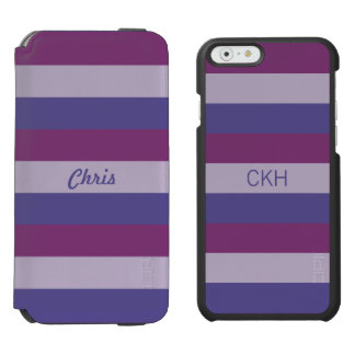 Stripes Pattern custom monogram phone wallets Incipio Watson™ iPhone 6 Wallet Case