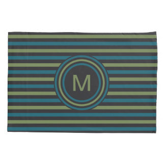 Stripes Pattern Custom Monogram pillowcases