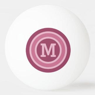 Stripes Pattern custom monogram ping pong balls