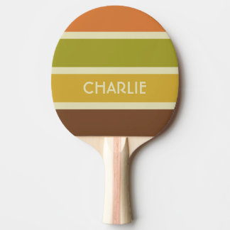 Stripes Pattern custom monogram ping pong paddle
