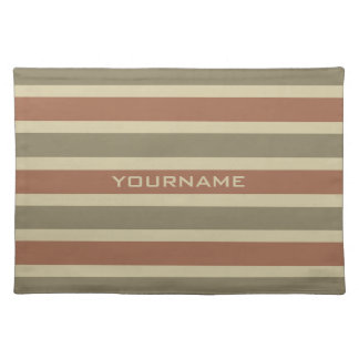 Stripes Pattern custom monogram placemats
