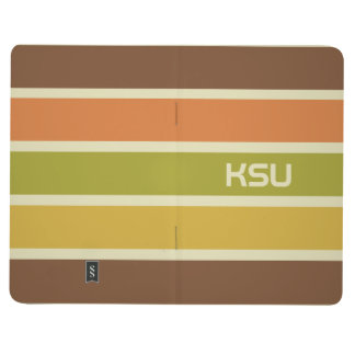 Stripes Pattern custom monogram pocket journal