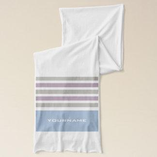 Stripes Pattern custom monogram scarf
