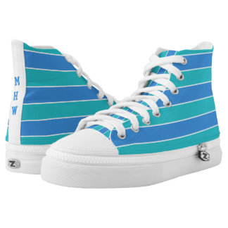 Stripes Pattern custom monogram shoes