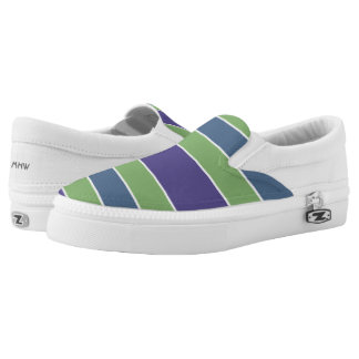 Stripes Pattern custom monogram shoes Printed Shoes