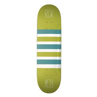 Stripes Pattern custom monogram skateboards