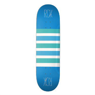 Stripes Pattern custom monogram skateboards