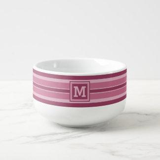 Stripes Pattern custom monogram soup mug