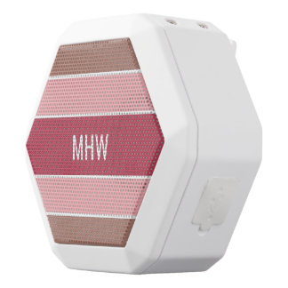 Stripes Pattern custom monogram speakers