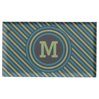 Stripes Pattern custom monogram table card holder