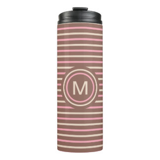 Stripes Pattern Custom Monogram tumbler