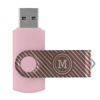 Stripes Pattern custom monogram USB memory sticks