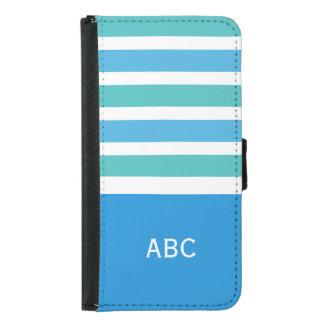 Stripes Pattern custom monogram wallet cases